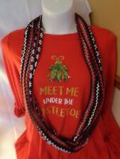 Christmas Sweater with scarf NEW Women's Tiara International size L Mistletoe