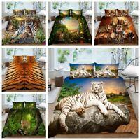 Milsleep Home Decor Tiger Print Bedding Set Duvet Cover Comforter Bed Cover Set