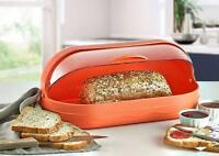 Orange/Green/Pink Medium Plastic Bread Bin Saver Box Roll Top Over Loaf Storage