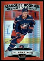 2019-20 OPC Platinum Red Prism Marquee Rookies #166 Emil Bemstrom RC /199