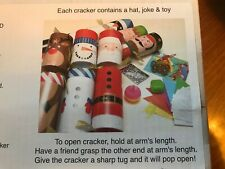 6 Pack of Novelty Themed Christmas Crackers Christmas Themed - NEW