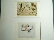 DISNEY ORIGINAL STORY SKETCH OF MICKEY & PLUTO SOCIETY DOG SHOW 1939 GOOFY 1942