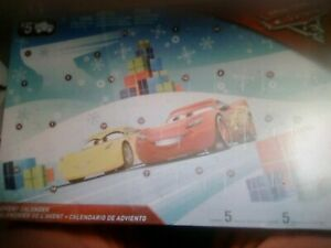 Disney Pixar Cars 3 Advent Calendar Brand New With 5 Cars And 19 Play Pieces