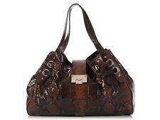 JIMMY CHOO Brown Snakeskin Ramona Bag ~ Lovely & luxe!