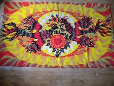 vintage tapestry 1970s Modern art Alain Cornic Firebirds 182 x 106 cms