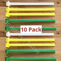 10 x 22cm PLASTIC TWIST ON CAGE PERCH /PERCHES Finches,Canary,Budgie Aviary Bird