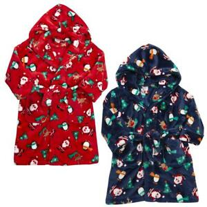 Babies / Childrens Christmas Dressing Gown / Robe - 6 Months to 13 Years
