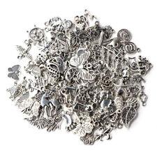 Wholesale 100pcs Bulk Lots Tibetan Silver Mix Charm Pendants Jewelry Craft DIY