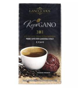 1 Box Gano Excel Ganocafe Ganolicious 3 In 1 Ganoderma Coffee Exp 9/23