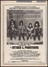KISS__ATTACK OF THE PHANTOMS__Original 1979 Trade AD/ poster__meets phantom park