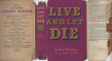 IAN FLEMING - LIVE AND LET DIE - RARE UK 1954 1ST w/DJ