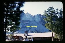 People at Mount Rushmore, South Dakota in 1958, Kodachrome Slide aa 7-20a