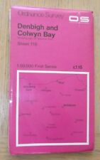 OS Landranger First Series No 116 Denbigh & Colwyn Bay (1974)used good condition