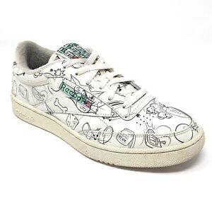 Reebok Classics Club C 85 x FX4011 Tom & Jerry Men's Size 8 White Tennis Shoes