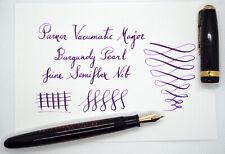 Parker Vacumatic Major Burgundy Pearl fountain pen; Blue Diamond; 14K F semiflex