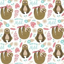 Sloth Fabric, BTY, Born To Be Mild, 21181701-3, White, TheFabricEdge