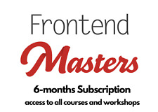 Frontend Masters | 6 Months |access to all courses and workshops, Learn JavaScri