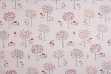 Woodland Forest Cream Fabric Remnant 100% Cotton 50cm x 40cm