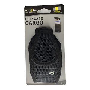 Nite Ize Clip Case Cargo Holster Black Medium Rugged Nylon Universal Phone Case