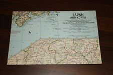 Vintage NATIONAL GEOGRAPHIC  MAPS - MAP of JAPAN AND KOREA 1960