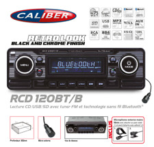 Autoradio Vintage Look Retro Black CD/USB/SD Bluetooth RCD120BT/B Caliber