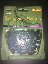 New Scorpion Spikes 20 Ct. soft golf shoe spikes Q-Lok System Champ