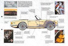 Triumph TR6 Cabriolet Hard Top Roadster 2,5 Litres UK 1969 Car Auto FICHE FRANCE
