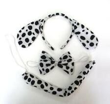 1 Set Dalmatians Dog Ears Animal Zoo Headband Band Bow Tie Tail Fancy Dress B