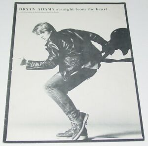 Bryan Adams Straight from the Heart  Sheet Music Songbook 1983 Soft Rock single
