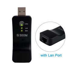 WiFi Wireless LAN Adapter USB Dongle RJ-45 Ethernet Cable For Smart TV Samsung