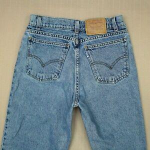 Levi's 550 Relaxed Fit Jeans Boy's Size 12 1/2 Vintage 90s Medium Wash Denim