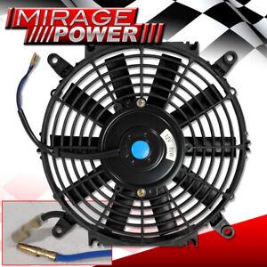 "Radiator Cooling Radiator Electric Slim Push Pull Fan 16"" 12V Universal Black"