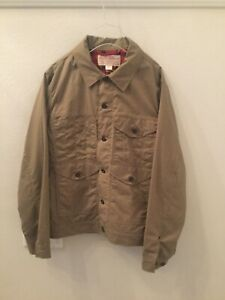 Filson Men's Tin Cloth Short Lined Cruiser Jacket Large NWT new Tan Made in USA