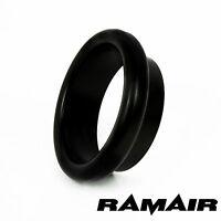 RAMAIR Black Aluminium 100mm Bellmouth - Trumpet - End Cap - Air Inlet Funnel