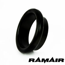 Ramair Noir Aluminium 100mm Bellmouth-Trompette-fin cap-Entonnoir de l'air d'admission