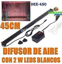 DIFUSOR 45CM CORTINA AIRE 16 LEDS BLANCOS 2W SUMERGIBLE ACUARIO PECERA PANTALLA