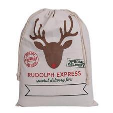 Christmas Gift Bags with Drawstring Santa Sack Party Favors Xmas Supplies LJ