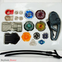 Beyblade Metal Masters Fusion Rotate Rip cord Launcher Beyblades Battle Set-E