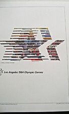 1984  Olympic Poster Los Angeles CA 16x12 Offset Lithograph Unsigned