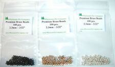 "300 piece Brass Fly Tying Beads  2.3mm 3/32"" Assortment"