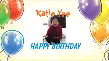 Personalized custom Happy Birthday Party shower Banner sign anniversary Wedding