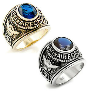 United States US Air Force Ring USAF Military Rings Silver Gold (Also Army Navy)
