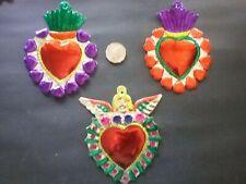 MEXICAN TIN HEARTS x 3