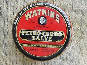 Vintage Watkins Petro-Carbo Salve - 11 1/4 Oz tin - has been opened