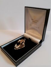 9 carat yellow GOLD BOOT 2 white gold MICE well made medium sized CHARM 7.8g