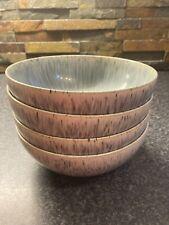 More details for denby halo speckle cereal bowls x 4 - 17cms