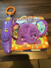 Peek & Play Baby Cloth Book Sensory Sound Toy
