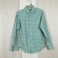 J.Crew Mens Cotton Gingham Plaid Button Down Shirt Green XS XSmall Classic