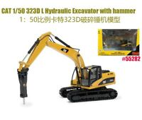 CAT 1/50 323D L Hydraulic Excavator With Hammer 55282 Diecast Vehicle Toy