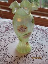 Fenton, Vase, Topaz Opalescent, Limited Edition, Honor Collection.